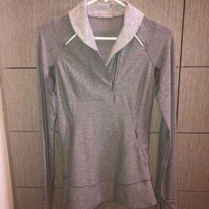 Lululemon half zip heather gray jacket Size 4